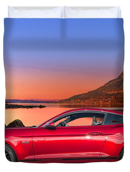 Mustang Duvet Cover by Jim  Hatch