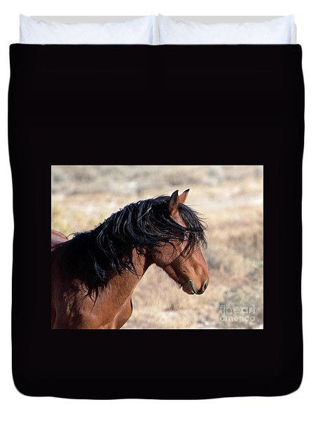 Mustang Duvet Cover by Lula Adams