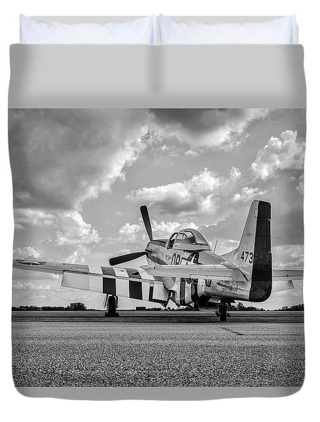 Mustang On The Ramp Duvet Cover