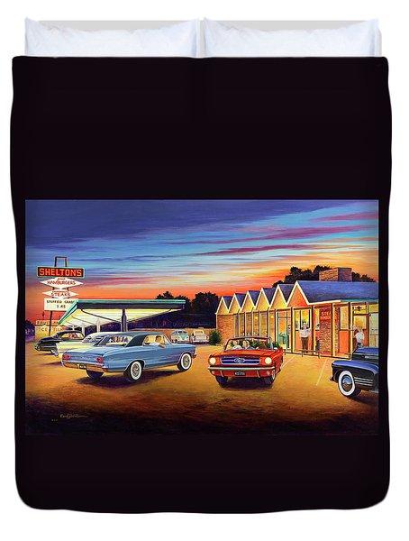 Mustang Sally - Shelton's Diner 2 Duvet Cover