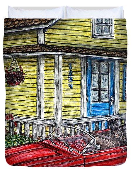 Mustang Sallys' Place Duvet Cover