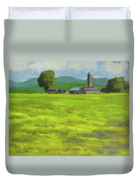 Mustard Fields Indiana Duvet Cover by Nora Sallows