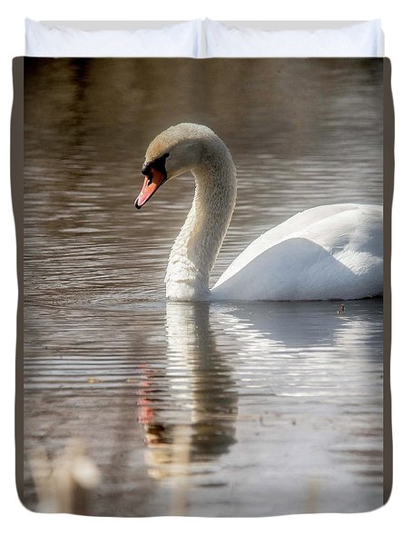 Duvet Cover featuring the photograph Mute Swan - 2 by David Bearden