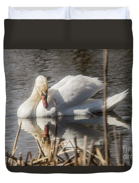 Duvet Cover featuring the photograph Mute Swan - 3 by David Bearden