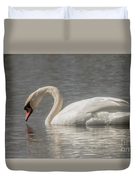 Duvet Cover featuring the photograph Mute Swan by David Bearden