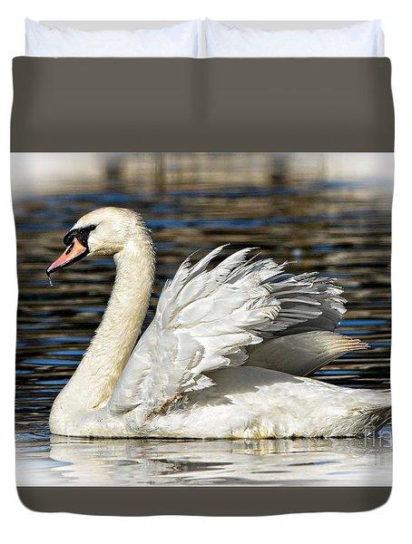 Mute Swan Duvet Cover by Kathy Baccari