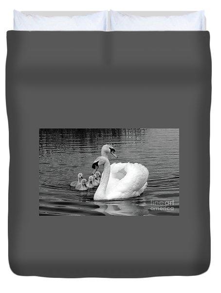 Mute Swans Duvet Cover