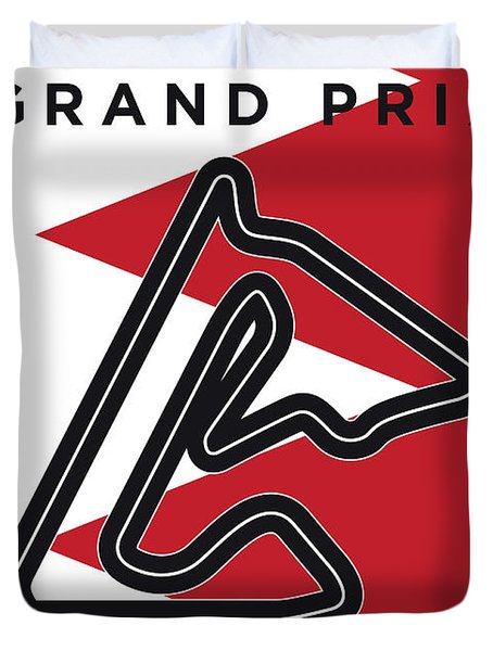 My 2017 Bahrain Grand Prix Minimal Poster Duvet Cover