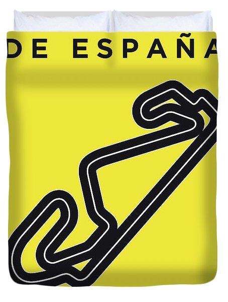 My 2017 Gran Premio De Espana Minimal Poster Duvet Cover