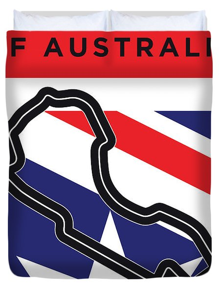 My 2017 Grand Prix Of Australia Minimal Poster Duvet Cover