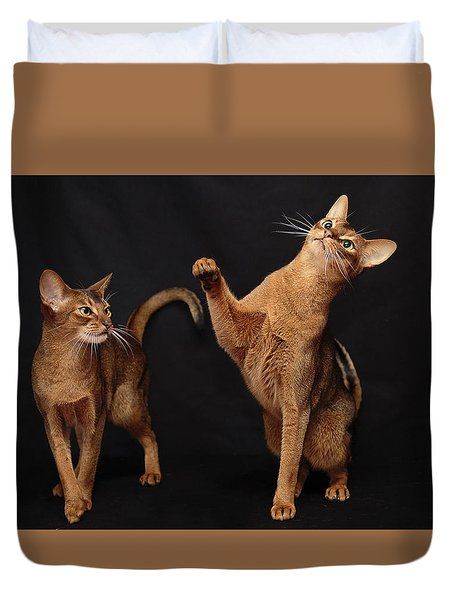 Duvet Cover featuring the photograph My Abys by Gary Hall