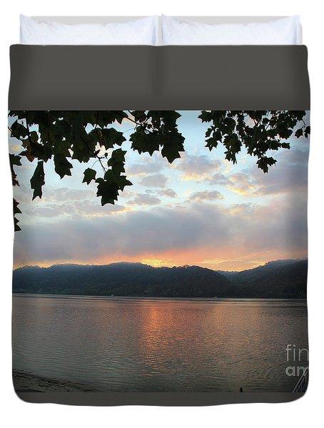 My Birthday Sunrise Duvet Cover