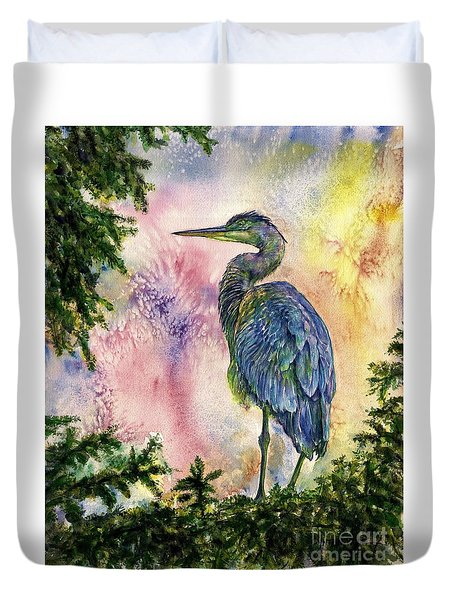 My Blue Heron Duvet Cover