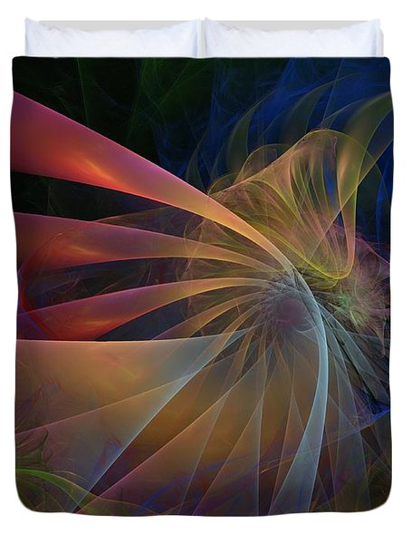 Duvet Cover featuring the digital art My Brothers Voice by NirvanaBlues