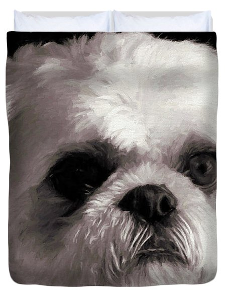 Duvet Cover featuring the painting My Bubba - Painting by Ericamaxine Price