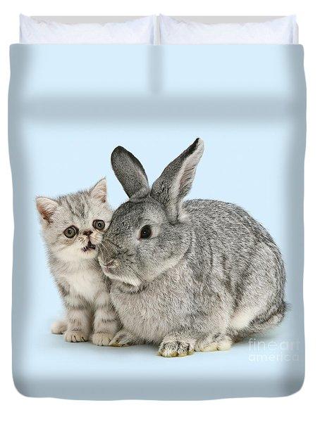 My Bunny Little Friend Duvet Cover