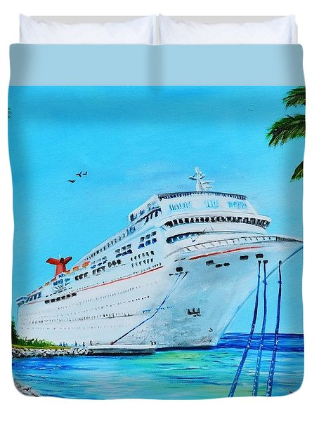 My Carnival Cruise Duvet Cover