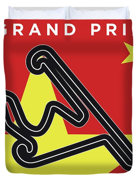 My Chinese Grand Prix Minimal Poster Duvet Cover