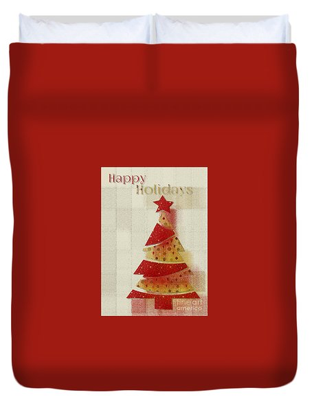 My Christmas Tree 02 - Happy Holidays Duvet Cover by Aimelle