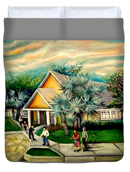 My Church Duvet Cover by Yolanda Rodriguez