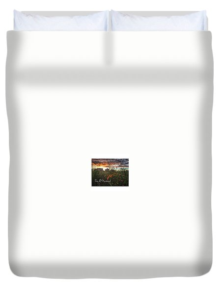 My City By The Sea Duvet Cover
