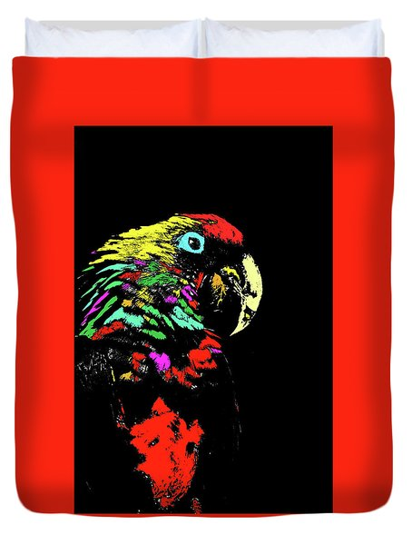 My Colorful Mccaw Duvet Cover