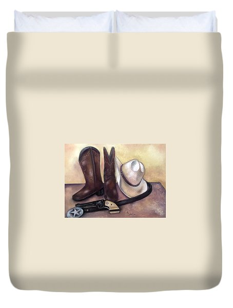 My Cowboy's Home Duvet Cover