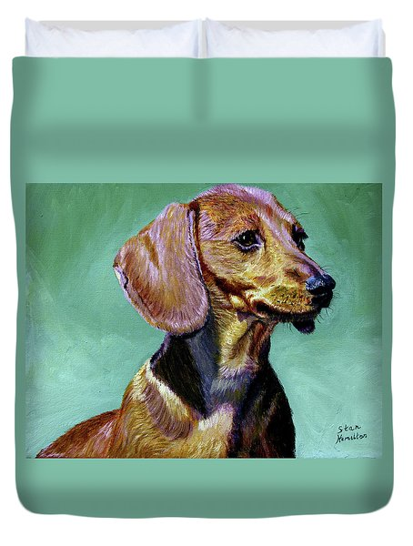 My Daschund Duvet Cover by Stan Hamilton