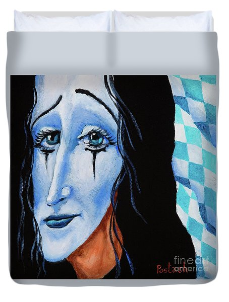 My Dearest Friend Pierrot Duvet Cover