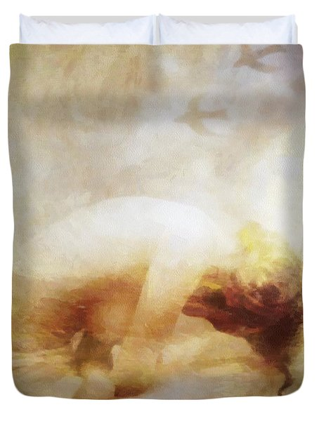 Duvet Cover featuring the digital art My Dreams Fly Away by Gun Legler