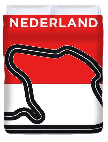 My F1 Zandvoort Race Track Minimal Poster Duvet Cover