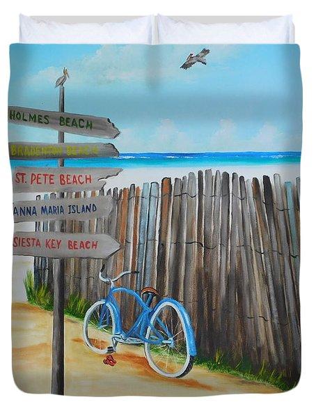 My Favorite Beaches Duvet Cover by Lloyd Dobson