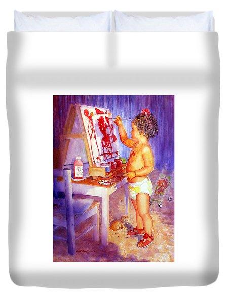 My Favorite Painter Duvet Cover by Estela Robles
