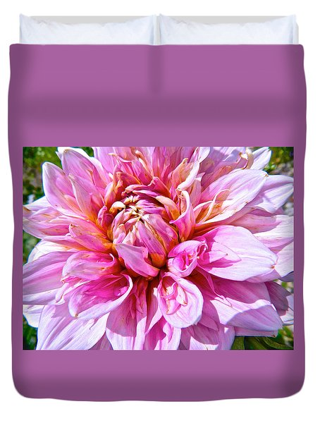 My First Dahlia Duvet Cover