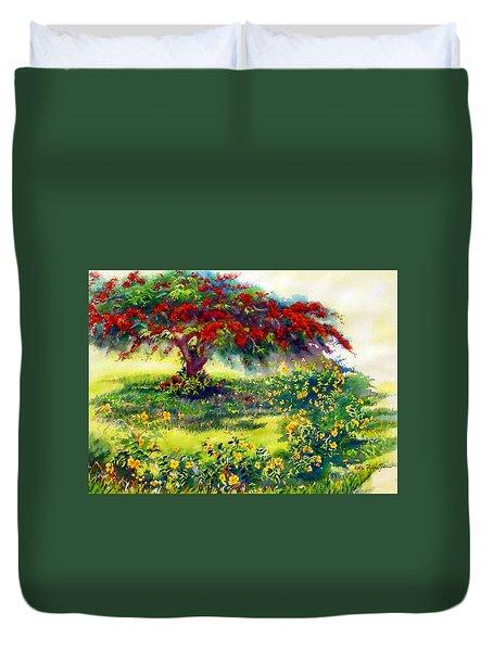 My Flamboyant Tree Duvet Cover by Estela Robles