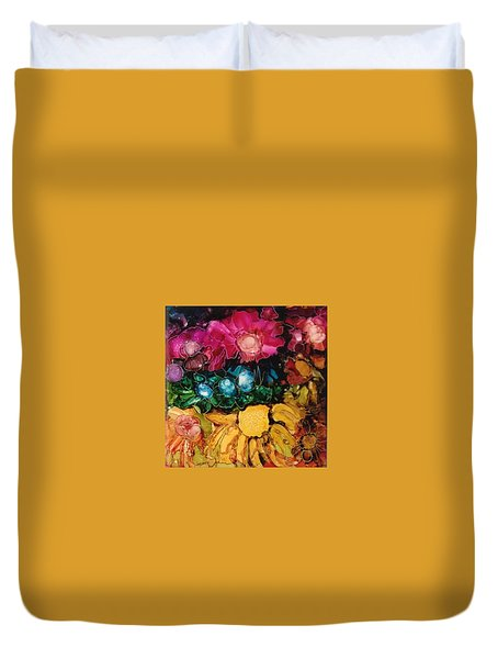 My Flower Garden Duvet Cover by Suzanne Canner
