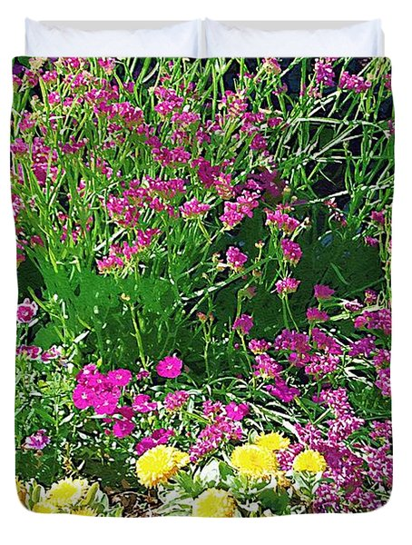 Duvet Cover featuring the photograph My Garden   by Donna Bentley