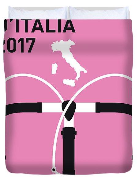 My Giro Ditalia Minimal Poster 2017 Duvet Cover by Chungkong Art