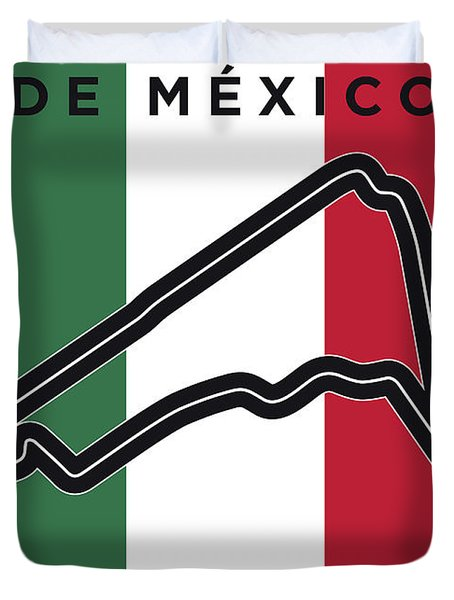 My Gran Premio De Mexico Minimal Poster Duvet Cover