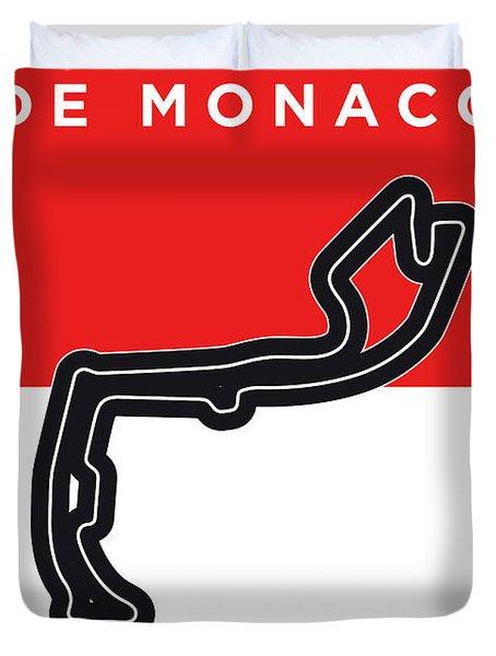 My Grand Prix De Monaco Minimal Poster Duvet Cover