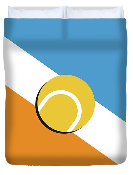 My Grand Slam 01 Australian Open 2017 Minimal Poster Duvet Cover by Chungkong Art