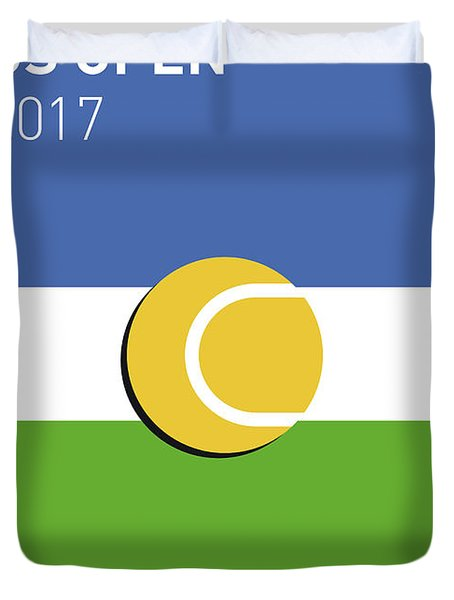 My Grand Slam 04 Us Open 2017 Minimal Poster Duvet Cover