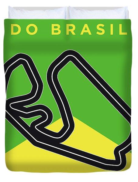 My Grande Premio Do Brasil Minimal Poster Duvet Cover