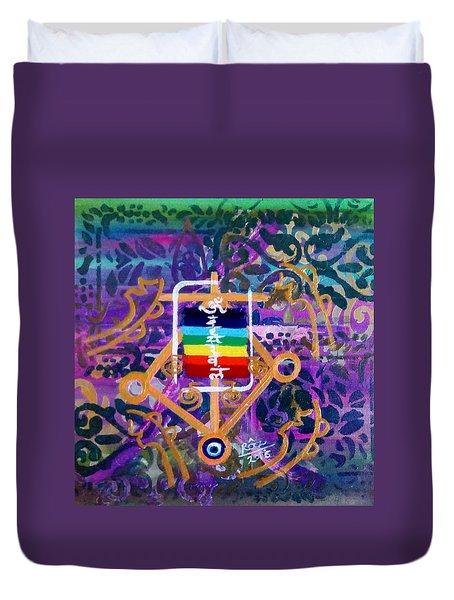 Plenary Healing My Happy Chakras Duvet Cover by Rizwana Mundewadi