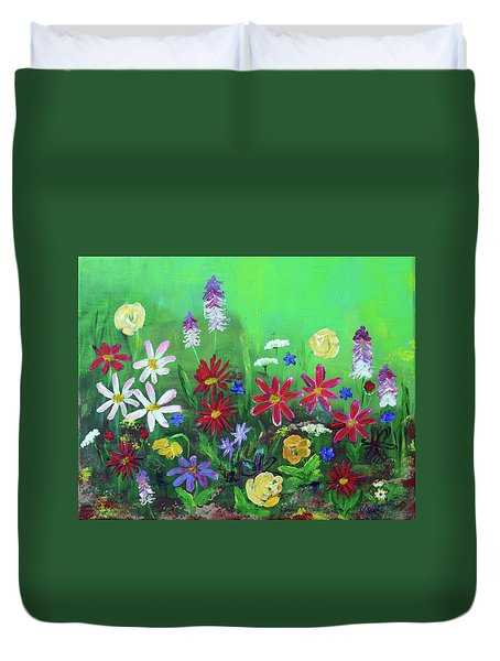 My Happy Garden 2 Duvet Cover