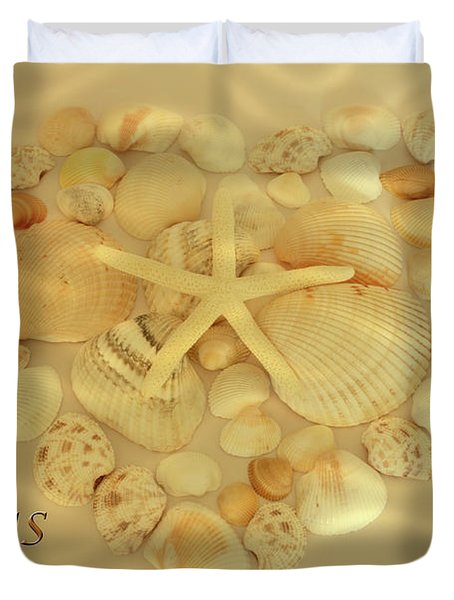 Duvet Cover featuring the photograph My Heart Belongs To The Sea by Angie Tirado