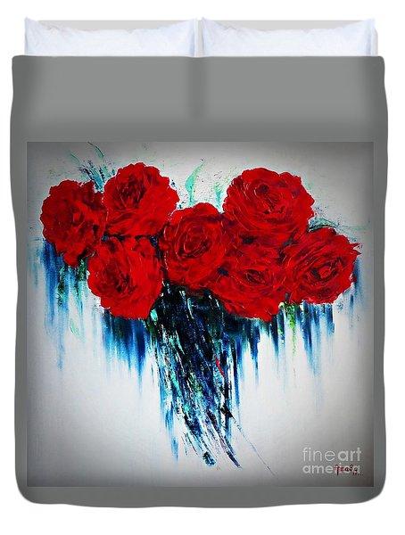 My Heart Of Roses Duvet Cover