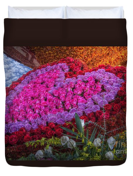 My Heart Of Roses Duvet Cover
