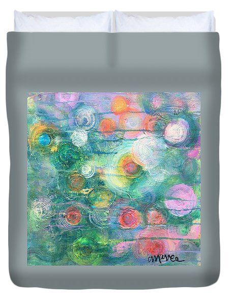 Duvet Cover featuring the painting My Heart Will Find You by Laurie Maves ART