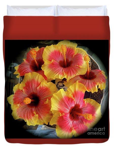 My Hibiscus Garden Duvet Cover